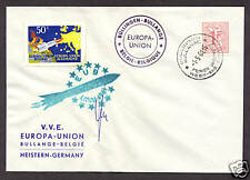 1961 Belgium rocket mail cover - Europa Union