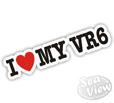 I Heart Love My VR6 GOLF VW Volkswagen Voiture Van autocollant decal