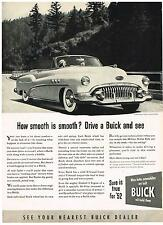 Vintage 1952 Magazine Ad Buick How Smooth is Smooth Drive a Buick and See