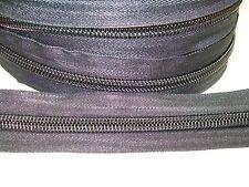 1mt No 10 Coil (Spiral) Zipping Black 50mm.