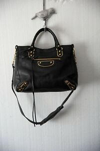 Balenciaga Velo goat leather limited edition Carried once black gold HW bag
