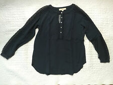 New with tags Ann Taylor LOFT  Lacy Peasant Long sleeves Blouse Size XXS