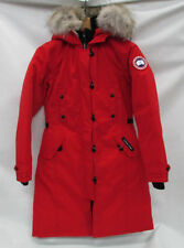 Canada Goose Womens Kensington Parka 2506L Red Size Extra Small