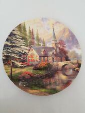 """Thomas Kinkade Dogwood Chapel 9"""" plate"""