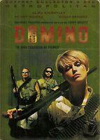 2 DVD Zona 2 Caja Metal Coleccionista Domino Scott /Rourke/Ramirez/Knightley