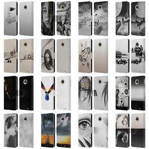 GRAHAM BRADSHAW ILLUSTRATIONS LEATHER BOOK WALLET CASE COVER FOR MOTOROLA PHONES