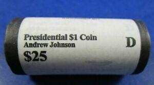 2011-D Andrew Johnson Presidential Dollar $25 Roll US Mint OGP Sealed Box BL141