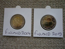 VERY RARE Finland 2€ commemorative 2004 UNC + Finland 2€ commemorative 2019 UNC