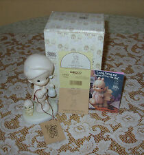 "Precious Moments ""A Special Chime for Jesus~Boy And Duck With Santa Cap 524468"