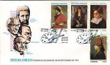 Chile 1991 FDC Pintura Chilena