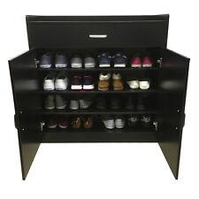 Shoe Cabinet Storage Sideboard Cupboard Rack Black White Beech Wooden Redstone