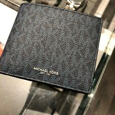 Michael Kors Mens Cooper Billfold with Coin Pocket Card Hold Wallet Baltic Blue