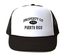 Trucker Hat Cap Foam Mesh USA State Property Of Puerto Rico