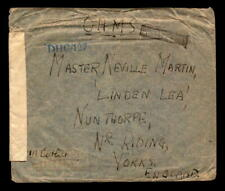 British Indian Forces Cover / Ohms / B-1 Back Cancel - L5482