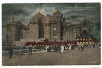 1918 Postmarked Postcard Boardwalk Hotel Traymore Atlantic City New Jersey NJ