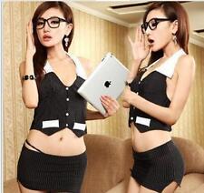 Burst section Sexy secretary skirt within Temptation Role play uniforms M Q3-45