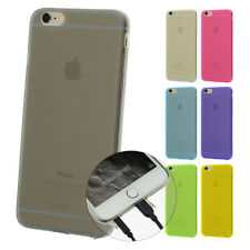 TPU Case iPhone 6 6S Plus Silikon Hülle Cover Matt Clear Staub Schutz Etui Folie