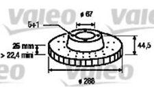 VALEO Juego de 2 discos freno Antes 288mm ventilado MERCEDES-BENZ CLASE A 197091