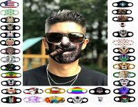 BEARDED CIGAR JOKE MASK FACE COVERING REUSABLE WASHABLE BREATHABLE FABRIC FAST!!