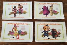 New listing Vintage 1970's McDonald's Manners Vinyl Placemats Ronald McDonald set of 4