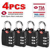 For Travel Bag, Suit Case, Lockers, Gym, Bike Locks TSA Approve Open Alert Locks