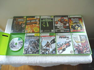 """Mixed Lot Of 10 Video Games PS2,Xbox,Xbox 360,Xbox 360 Live """" GREAT ASSORTMENT"""