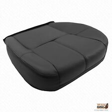2007 2008 Chevy Suburban 2500 Driver Replacement Bottom Leather Seat Cover Black