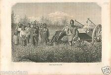 Indians Indien Ojibwe Ojibwa Chippewas Ontario Canada USA GRAVURE OLD PRINT 1878