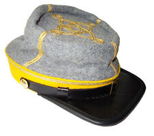 American Civil War ACW Confederate Cavalry Captain Kepi Hat Cap Medium 56/57cms