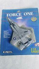 ERTL Force One F-15 Eagle Metal Diecast Plane Original Package 1989 SEALED