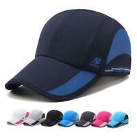 Women Men Outdoor Sports Baseball Mesh Hats Running Visor Quick-drying Caps