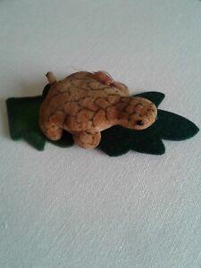 Rare Antique Velvet Schuco Turtle Perfume Atomizer ~ Parfüm Schildkröte selten