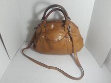 TIGNANELLO Shoulder Handbag Crossbody Pocketbook Animal Print Purse Camel/Tan