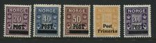 Norway 1929 overprinted Postage Dues 20 to 200 ore mint o.g.