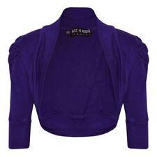 Pulls et cardigans violets à longueur de manches manches courtes pour fille de 2 à 16 ans