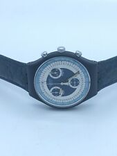 Swatch Chrono Silver Star SCN102 1991 Original Box Collectors Watch 22 Jewel