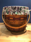 Longaberger 1996 May Series Sweet Pea Basket With Liner And Protector