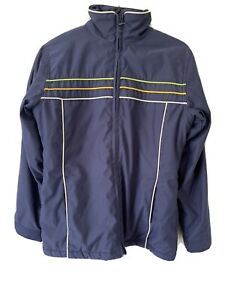 Ripcurl Girl Womens Zip Up Jacket Sz8 Navy Blue VGC Lined Pre Owned