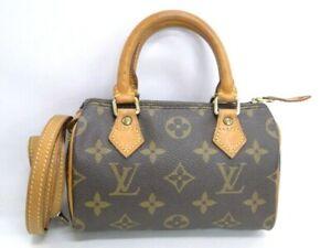 Louis Vuitton Mini Speedy Hand Shoulder Bag Pouch M41534 Monogram 10180184800 K