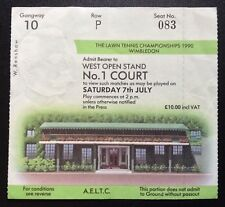 Wimbledon Tennis Ticket 1990 Number One Court Saturday 7th July