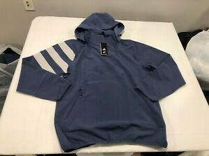 NWT $140.00 Adidas Mens All Blacks Rugby All Weather Jacket Blue Size MEDIUM