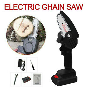550W Mini Electric One-Hand Saw Woodworking Chain Saw Wood Cutter Cordless Black