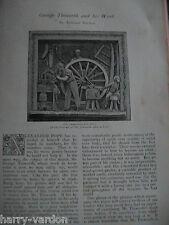 George Tinworth Sculptor Work Artist Art Victorian Rare Old Antique 1891 Article