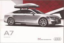2012 12 Audi  A7  Accessories original sales  brochure  MINT