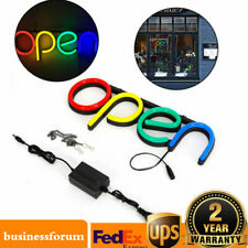 Open Store Sign Lamp Led Neon Light Outside Wall Decor for Restaurant Club Bar