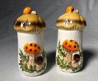 Vintage Sears and Roebuck Merry Mushrooms Salt And Pepper Shakers 1978-Unused