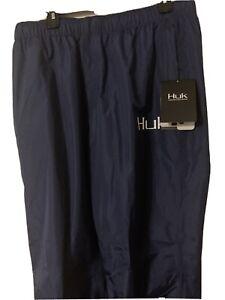 NWT Huk Performance Fishing CYA Packable Rain Pants XXL 2XL Navy Blue