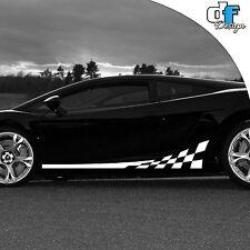 Auto Tuning Aufkleber Rennstreifen Racingstreifen Design 2 teilig 3M Folie