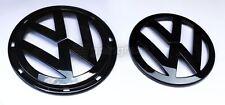 VW Jetta MK5 5 Gloss Black Euro Badge Emblem Logo Front Grill + Rear Trunk Hatch
