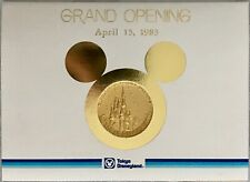VINTAGE 1983 Grand Opening Tokyo Disneyland Medallion w/Letter